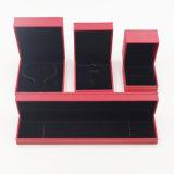 Pelusa de Flannelette que se reúne el rectángulo de joyería plástico del embalaje del regalo (J70-E3)
