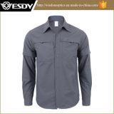 新しいデザイナー戦術的なトレーニングの通気性の速い乾燥の取り外し可能なワイシャツ