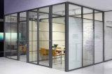Cloison de séparation en verre en aluminium en bois de bureau moderne (NS-NW032)
