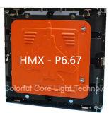 640X640mm druckgegossenes Aluminiumim freienled-Verkaufsmöbel-Bekanntmachen (P6.67/P8/P10)