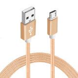 câble usb micro isolé par nylon de 5V 2A pour l'androïde de Samsung