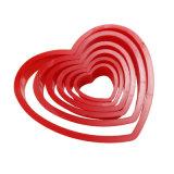 Los conjuntos de 6 pedazos de la herramienta de la hornada del molde de la galleta de la dimensión de una variable del corazón para dar vuelta al molde de la torta del azúcar