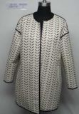 女性の印刷された革コート、女性の衣類