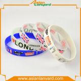 Wristband di gomma personalizzato del silicone di disegno