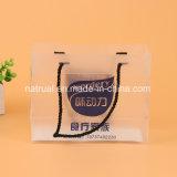 Bolso plástico del PVC del claro de las compras con el rectángulo del PVC de la maneta