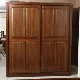 Wardrobe de madeira do quarto da noz contínua feita sob encomenda antiga da pintura (GSP9-007)
