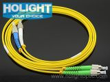 FC APC aan FC PC Duplex Singlemode Fiber Optic Patch Cord