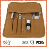 Ws-Ca02 Easy Carry Brown Canvas Tela Roll-up Cocktail Bar Acessórios Cocktail Set