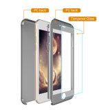高品質360度の緩和されたガラススクリーンの保護装置とのiPhoneのための全保護パソコンの電話箱