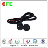 Conectores de cable magnéticos actuales de encargo 3pin de Hight