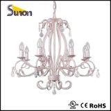 Lámpara cristalina blanca lechosa contemporánea