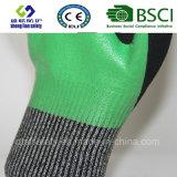 Handschoen van het Werk van de Veiligheid van de besnoeiing de Bestand met de Zandige Nitril Met een laag bedekte Handschoenen van de Veiligheid