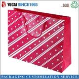 Красная хозяйственная сумка бумаги бумажного мешка с горячий штемпелевать