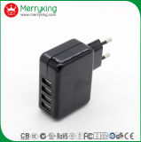 Lader van de Reis USB van de Stop van de EU de Universele 5V 2.4A met Goedkeuring Ce/GS/CB
