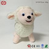 Juguete suave relleno cordero animal derecho lindo blanco de las ovejas de la felpa