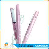 優雅なピンクの毛のストレートナの高品質のセラミックコーティングの速い毛のストレートナ
