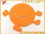 Цветастый логос Customed циновки чашки силикона способа (YB-HR-85)