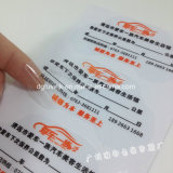 Transparent Custom Wall Window Glass Véhicule auto autocollant PVC Vinyl Sticker Film Impression Media Roll