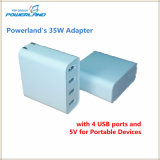 5V 7A Quad Ports USB Chargeur universel pour téléphone portable