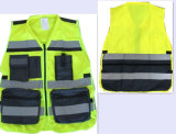 Hoge Militaire Klasse 2 van het Zicht ANSI & En20471 en het Weerspiegelende Vest van de Veiligheid muli-Fuctional van Fabriek