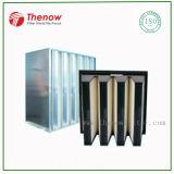 청정실의 환기 그리고 냉난방 장치에 있는 큰 기류 HEPA 필터