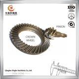 La máquina del OEM parte el engranaje de corona de acero de la aleación del eje de Gearpinion del gusano