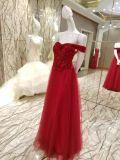 Vestito da sera bordante rosso del corsetto per la cerimonia nuziale