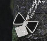 Geplateerde Halsband van de Tegenhanger van de Juwelen van het Roestvrij staal van 00190 Manier de Koele Zwarte met Word van de Liefde