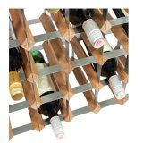 Rek van de Fles van het Bamboe van de Plank van de Wijn van Relaxdays Free-Standing met Cork en Van de Flesopener de Natuurlijke Tribune van de Wijn van de Houder,