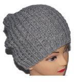 Beanies feitos malha cinzentos do Slouch das mulheres do chapéu da forma feita sob encomenda