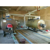 4.2 MW 수평한 가스에 의하여 발사되는  대기압 온수 보일러