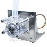 Tensão DC12 com a bomba Peristaltic da tubulação do silicone