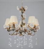 Lampadario a bracci di ceramica dell'a cristallo del fiore della tonalità floreale di Faric