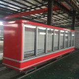 Congelador ereto comercial de Multideck com porta de vidro