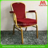 의자를 식사하는 알루미늄 금속 연회가 좋은 품질에 의하여 겹쳐 쌓였다