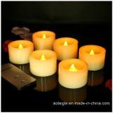 مصغّرة شمع شمعة أصفر يرفرف يشمّ شمعة مع 2 مفاتيح [رموت كنترول]