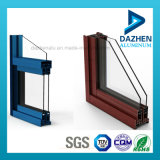 Profil en aluminium d'extrusion de porte de guichet personnalisé par usine avec différentes couleurs