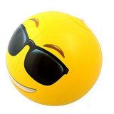 Desinflado 40cm 30cm Diámetro inflado inflable cara de la sonrisa pelota de playa