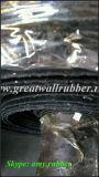Feuille en caoutchouc de fibre, feuille en caoutchouc noire, roulis en caoutchouc de couvre-tapis