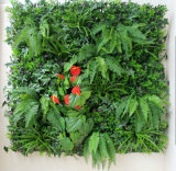 새로운 디자인 인공적인 수직 잔디 피스 장식적인 푸른 잎 벽면 플랜트