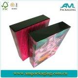 Изготовленный на заказ напечатанные Cmyk коробки Clamshell конца вытачки коробки подарка пустой косметической цветастые бумажные