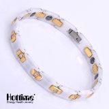 Roestvrij staal en de Ceramische Armband van de Link voor Dame met Kristal