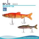 マルチ接合されたSwimbaitリアルな4セクション堅い釣は魅惑する塩及び淡水魚の餌の釣り道具(MS0210)を