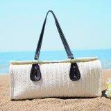 Señora Big Tote Handbag de la mujer de la manera del bolso de la playa de la paja del Knit del ocio