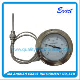 Termómetro capilar bimetálico industrial del tubo espiral de la caldera