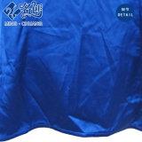Camicetta sexy allentata del V-Neckline di Longsleeve del tasto blu della Chiusura lampo-Casella