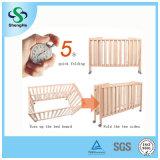 2개의 색깔 소나무 아기 침대