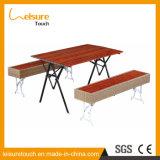 Rota de madera plástica Table&#160 del jardín del restaurante al aire libre de los muebles; and Silla