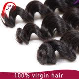 Extensões 100% frouxas brasileiras do cabelo humano da onda de Remy do Virgin