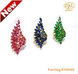 女性のための大きく赤い石925の純銀製の宝石類のリングR10604